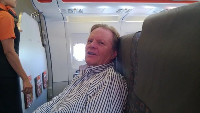 Peter on plane